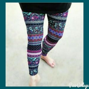 MOVING SALE! Horizontal Floral Leggings