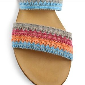 SCHUTZ Shoes - Schutz Zendy Crochet Ankle-Wrap Slides Sandals