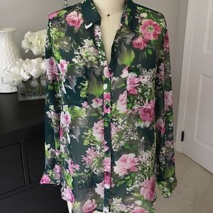 Tops - Nordstrom Bellatrix Floral Blouse size Small