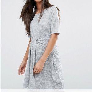Asos maternity tie front dress