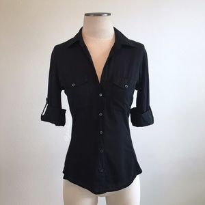 Standard James Perse- Classic Black Button Down 2