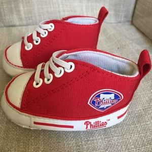 NWOT Philadelphia Phillies crib sneakers Spring!