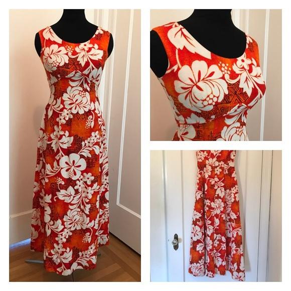 9e6fcb37b140 Vintage Dresses | Hawaiian Tiki Dress Mumu Maxi Vlv 60s70s | Poshmark