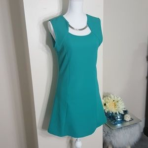 Dresses & Skirts - Teal dress with necklace detail