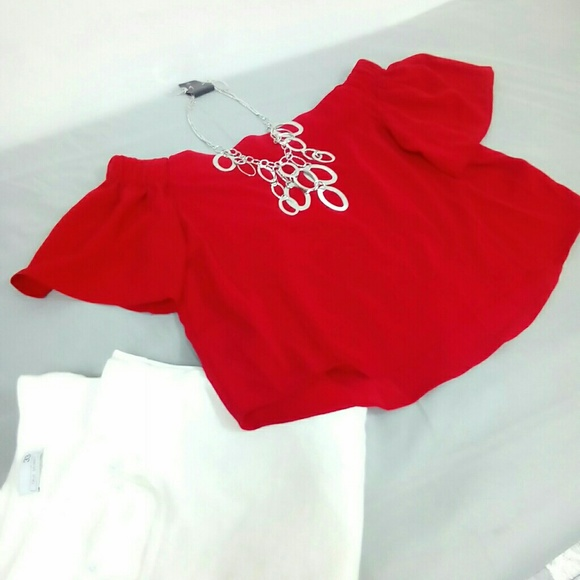 Deja Vous Tops - NWT Red Strapless Top Sz. M