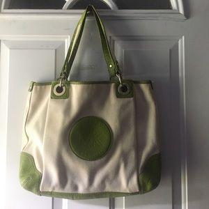 Michael Kors Green Canvas Tote Bag