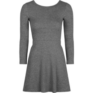 Topshop Ribbed Lace-up Skater Dress