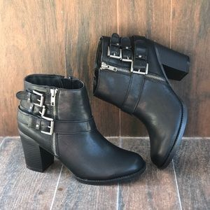 Triple Buckle Threat Ankle Bootie