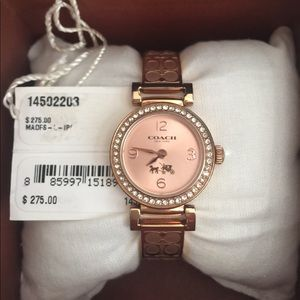 🎉Last Chance Rose Gold Coach watch diamond bezel