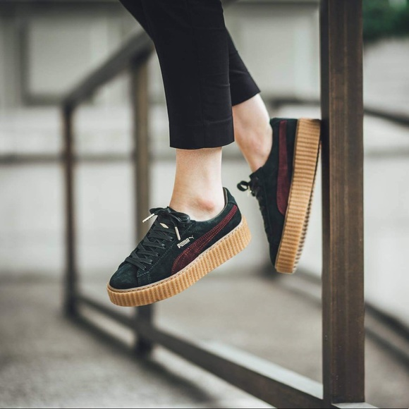 puma creepers green red