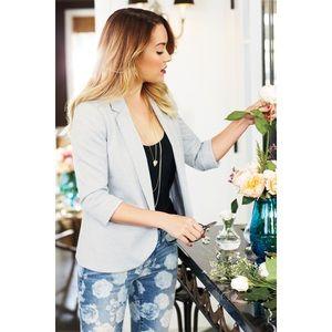 LC Lauren Conrad Open Grey Blazer