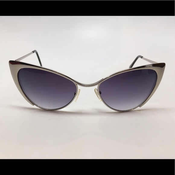 52% off Accessories - Cat eye Silver Metal framed ...