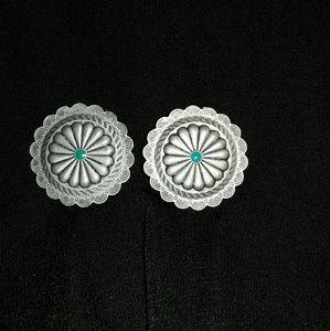 Southwestern Medallion Pierced Earrings