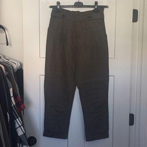 Anthropologie High Waist Cuffed Trouser Pant