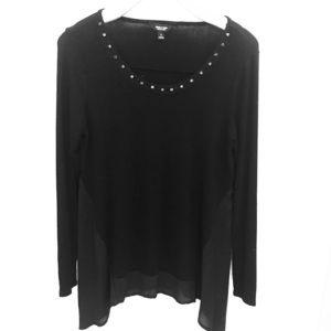 5/20$ Simply Vera Black Embellished  Sweater