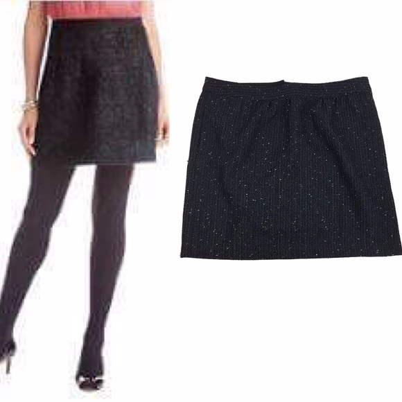 9bd211dde9df20 LOFT Skirts | Ann Taylor Black Sparkle Tweed Skirt | Poshmark