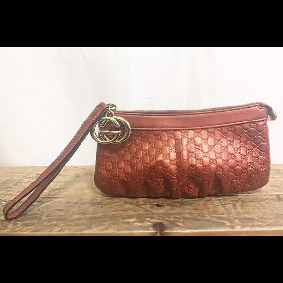 e3f6b479d81 Gucci Handbags - Gucci Guccissima New Britt Metallic Pouch
