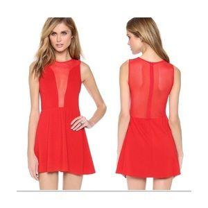 FOR LOVE AND LEMONS RARE RED LULU DRESS