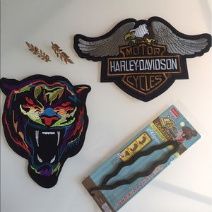 Harley davidson patch colorful tiger patch & pins