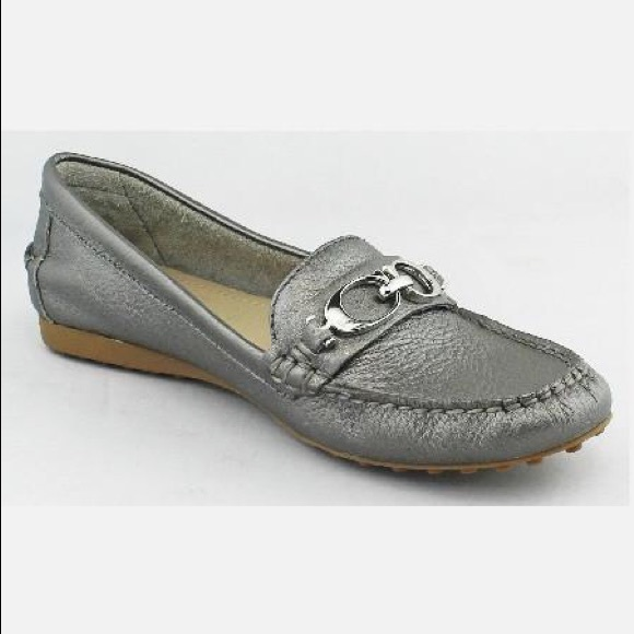 ffd8ade9b9b Coach Shoes - Coach Fortunata Pewter Silver Loafers