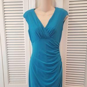 ralph Lauren sleeveless career dress-TEAL blue 6