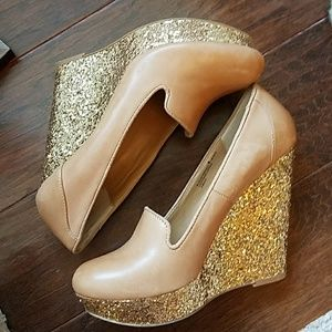 Shoes - Chinese laundry glitter wedge