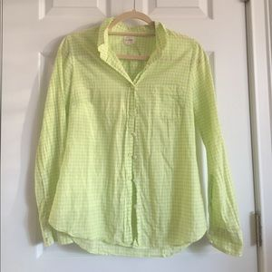 J.Crew Perfect Shirt in Gingham OBO