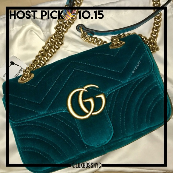 Gucci Bags   Gg Marmont Velvet Small Bag   Poshmark 80f445bed80