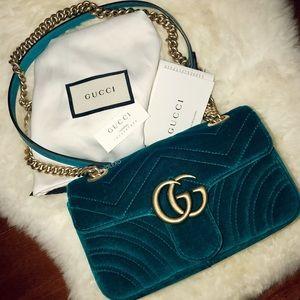 Gucci Bags - Gucci GG Marmont Velvet Small Bag dca09c86bbeeb