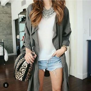 Forever 21 Olive trench coat