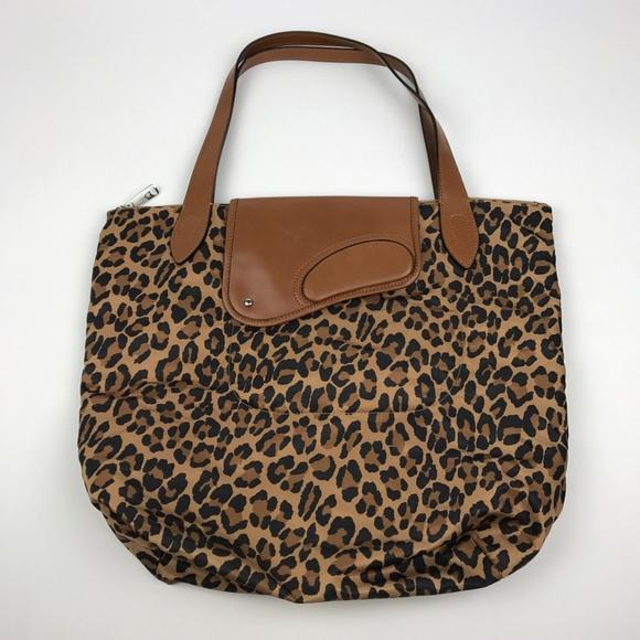 b9bfa205eb Lauren Ralph Lauren Handbags -  Ralph Lauren  Leopard Nylon Leather Tote Bag  LRL