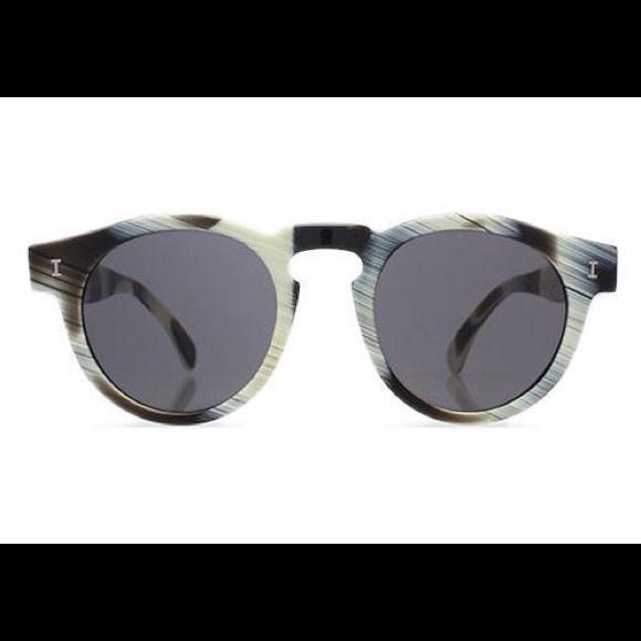 b59829442d1 Illesteva Leonard Matte Dark Horn Sunglasses.