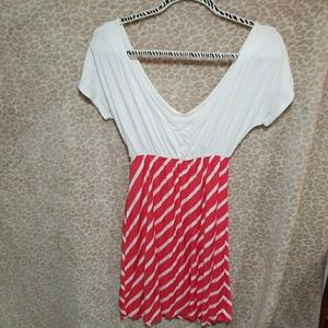 Dresses & Skirts - Coral&White Strip Dress