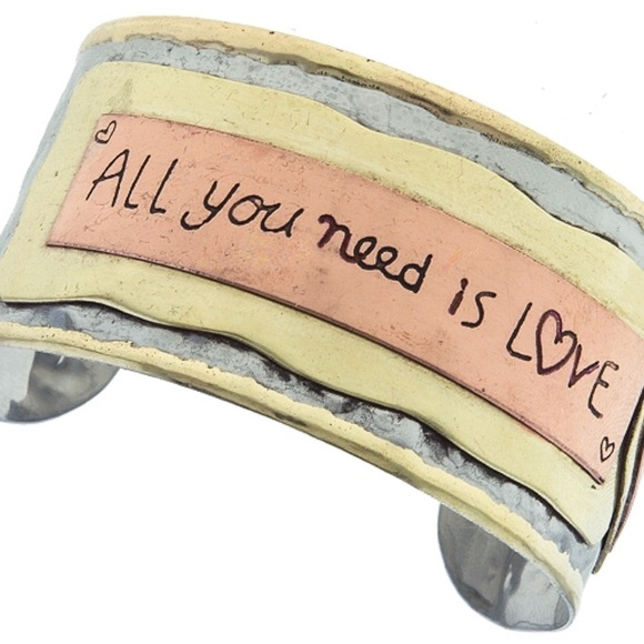 Jewelry - All You Need Is Love ❤️ Metal Wrist Cuff