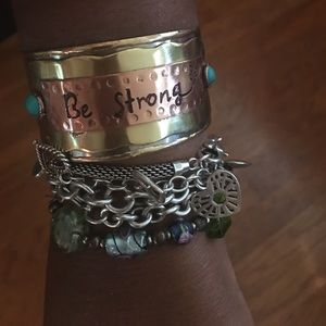 Jewelry - Be Strong • Metal Wrist Cuff