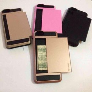 Accessories - Card Holder Armor Cover For iPhone 6/7/6+/7+