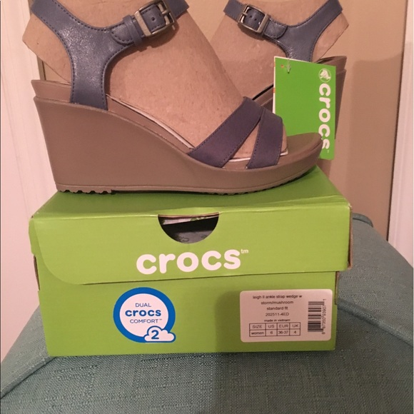 840637cf547c55 CROCS Shoes - Crocs Women s Leigh II Ankle Strap Wedge Sandals