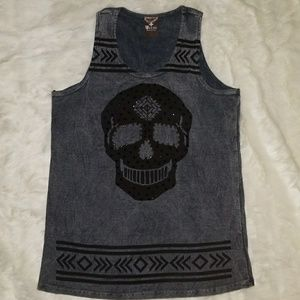 VOCAL BLING SKULL TANK