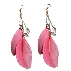 Jewelry - Large feather earrings