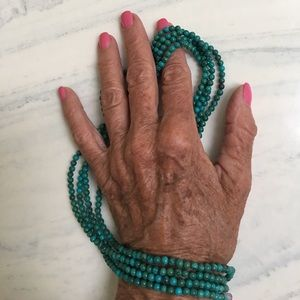 Jewelry - Turquoise 4 strand 4mm bead necklace