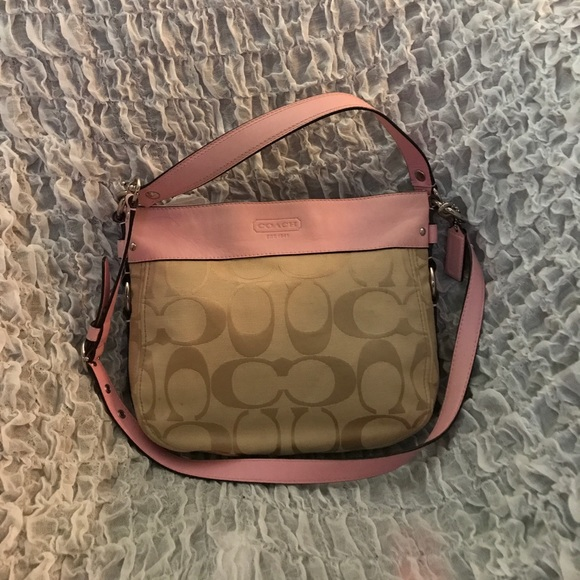 Coach Bags Light Pink Two Toned Monogrammed Purse Poshmark