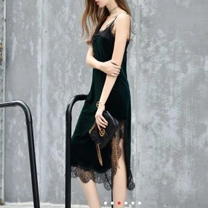 Dresses & Skirts - Velvet and lace dress