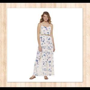 Lace Butterfly Spaghetti-Strap Summer Maxi Dress