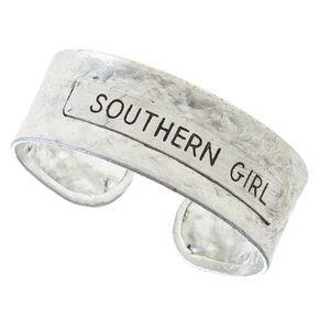 Southern Girl Silver • Metal Wrist Cuff