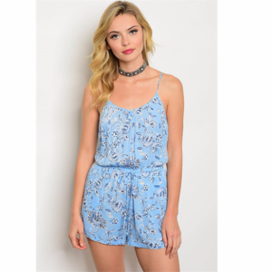 NEW Strapless Floral Romper Jumper Shorts Ruffle from ... - photo#10