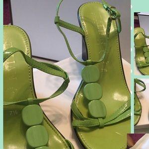 Shoes - Italian shoe maker -lime green sandal