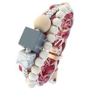 Jewelry - Red Bandana Chunky Junky Bracelet