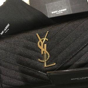 YSL Large Monogram Flap Wallet