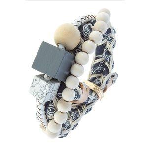 Jewelry - Blue Bandana Chunky Junky Bracelet
