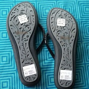 clarks solar case womens flip flops